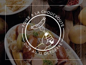 FOIRE À LA CHOUCROUTE | JUSQU'AU 13 OCTOBRE