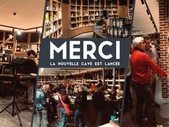 LA NOUVELLE CAVE EST LANCÉE | MERCI !