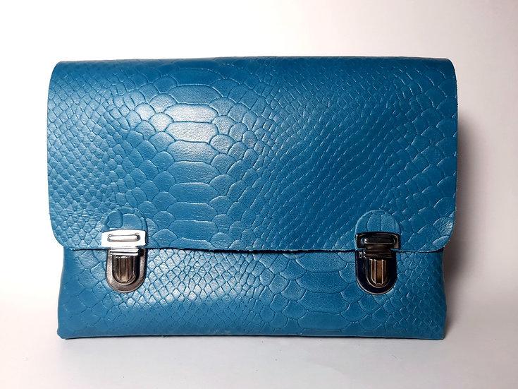 Le Very bleu turquoise croco