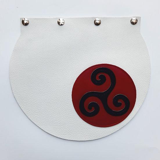 rabat blanc/triskel rouge et noir
