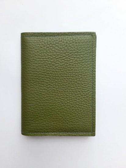 portefeuille vert olive/bleu canard