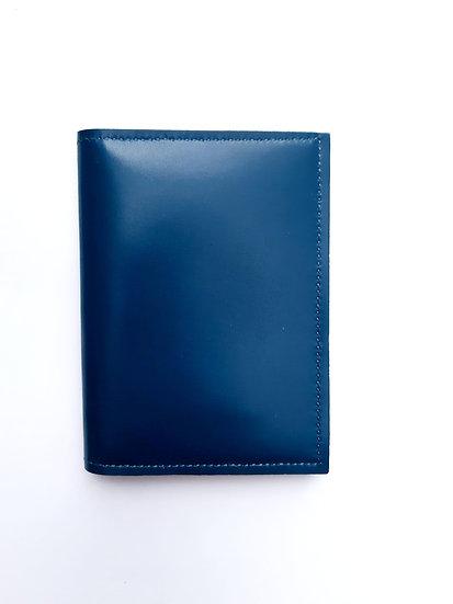 portefeuille bleu canard/vert anis