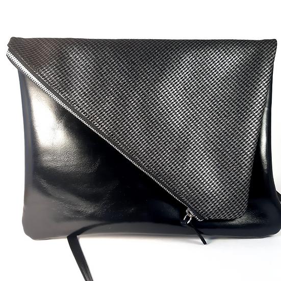 ann's bag GM noir argenté