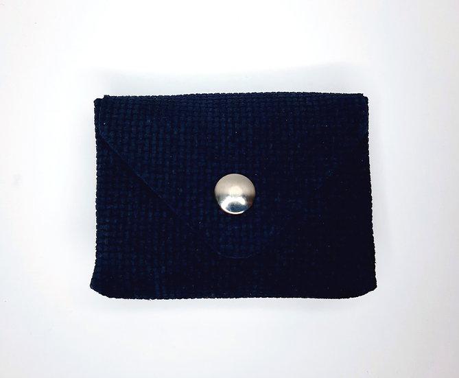 porte monnaie bleu marine gaufré