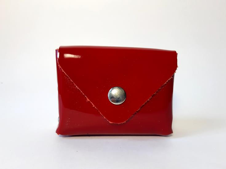 porte monnaie rouge vernis