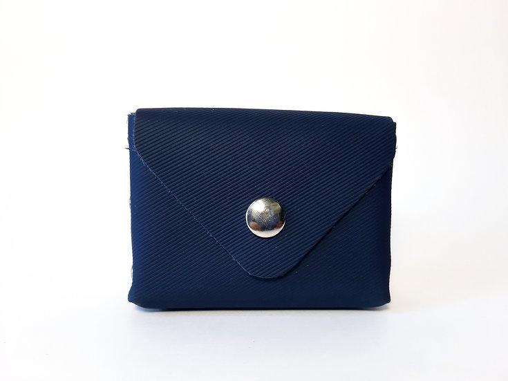 porte monnaie bleu marine rayé