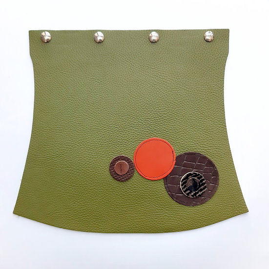 rabat vert olive/orange