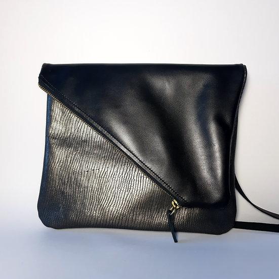 ann's bag PM noir doré/noir