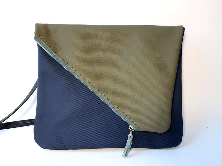 ann's bag kaki rayé/bleu marine rayé