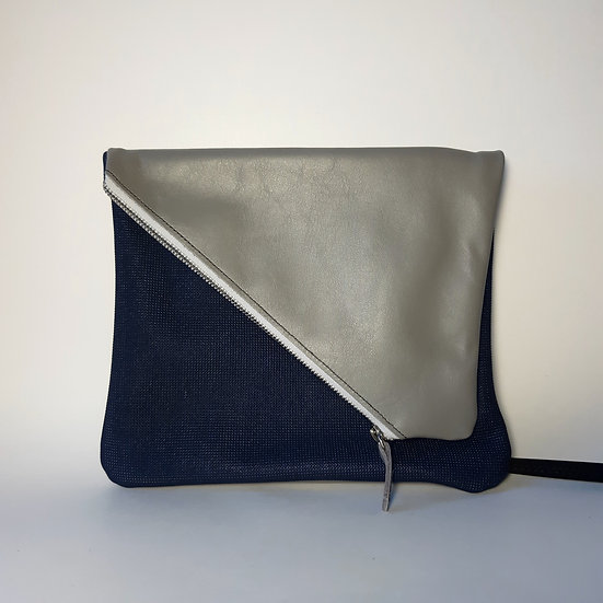 ann's bag gris clair/bleu marine