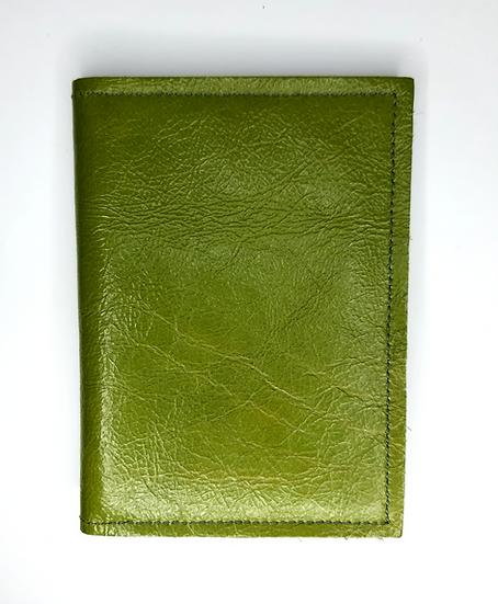 portefeuille vert anis
