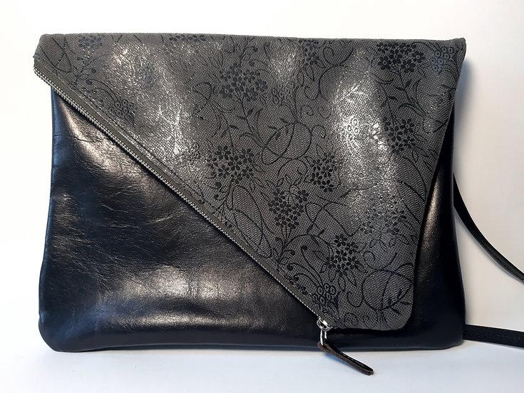 ann's bag GM noir/gris fleuri