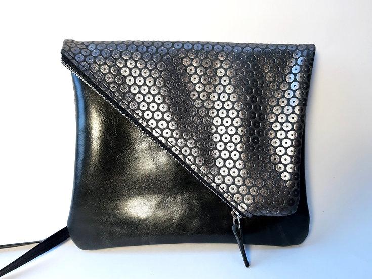 ann's bag noir/pastille argenté