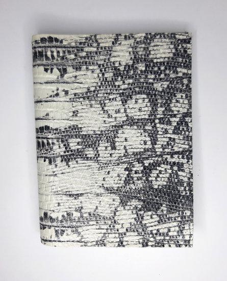 portefeuille blanc/gris