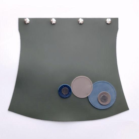 rabat vert de gris/bleu