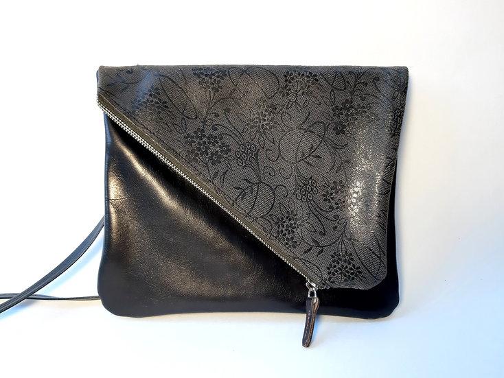 ann's bag noir/gris dentelle
