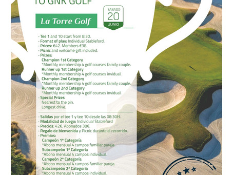 Torneo Wellcome Back to GNK Golf