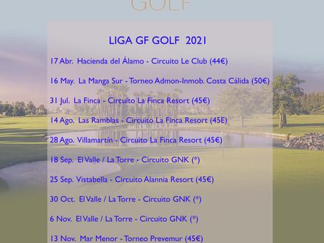 Calendario Liga GF Golf 2021