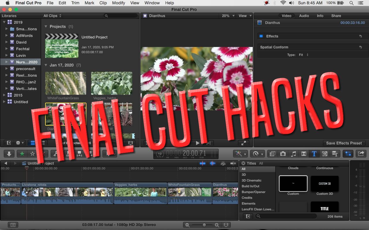 Vertical Videos Using Final Cut