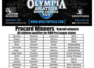 IFBB Olympia Amateur Colombia Results 2018