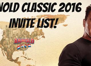 Arnold Classic 2016 Invite List