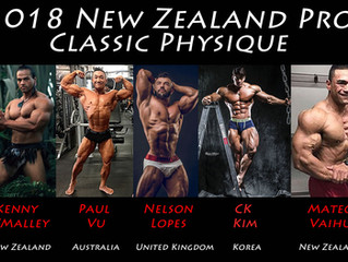 Classic Physique at the New Zealand Pro 2018
