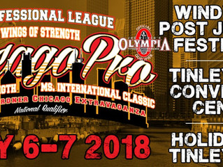 2018 IFBB Pro League Chicago Pro Results