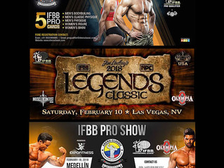 February 2018 IFBB Pro League Contest Schedule: