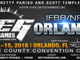 Florida IFBB Pros Competing in Orlando Europa 2018
