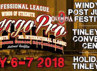 IFBB Pro League Chicago Pro July 6-7, 2018