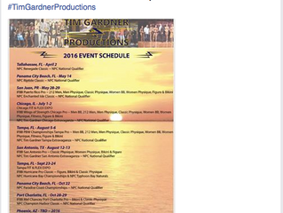 Tim Gardner Productions announces ten show line up with more pro shows &  national qualifiers fo