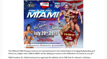 IFBB Elite Pro Event added to Miami Grand Prix!