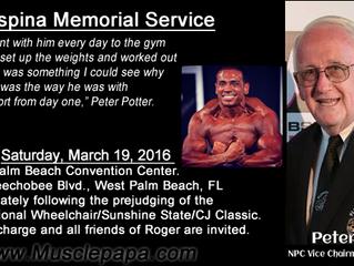 Roger Espina Memorial Service