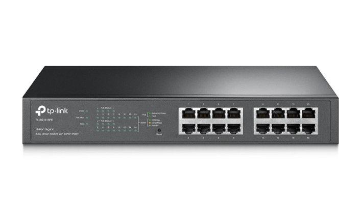 16-Port Gigabit Easy Smart Switch with 8-Port PoE+ TL-SG1016PE