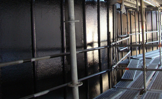 Palplanches peinture maintenance