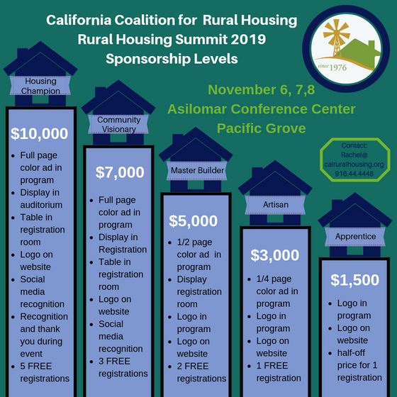 Sponsor the Rural Housing Summit~