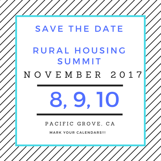 Save the Date! Rural Housing Summit 2017