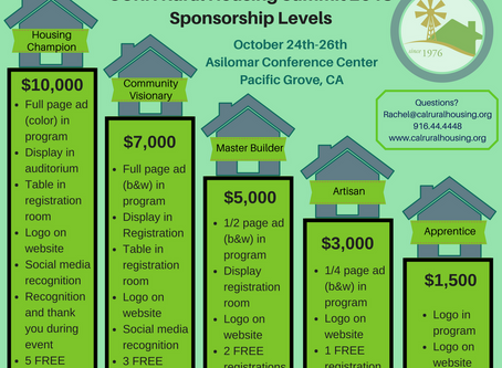 Rural Housing Summit Sponsorship Levels