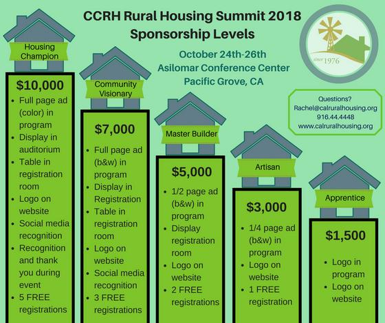 Rural Housing Summit Sponsorship Levels