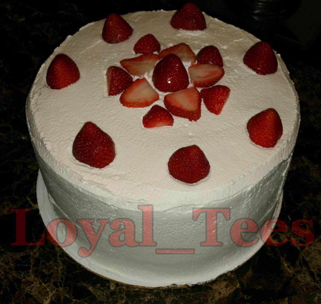 Strawberry Casata Cake
