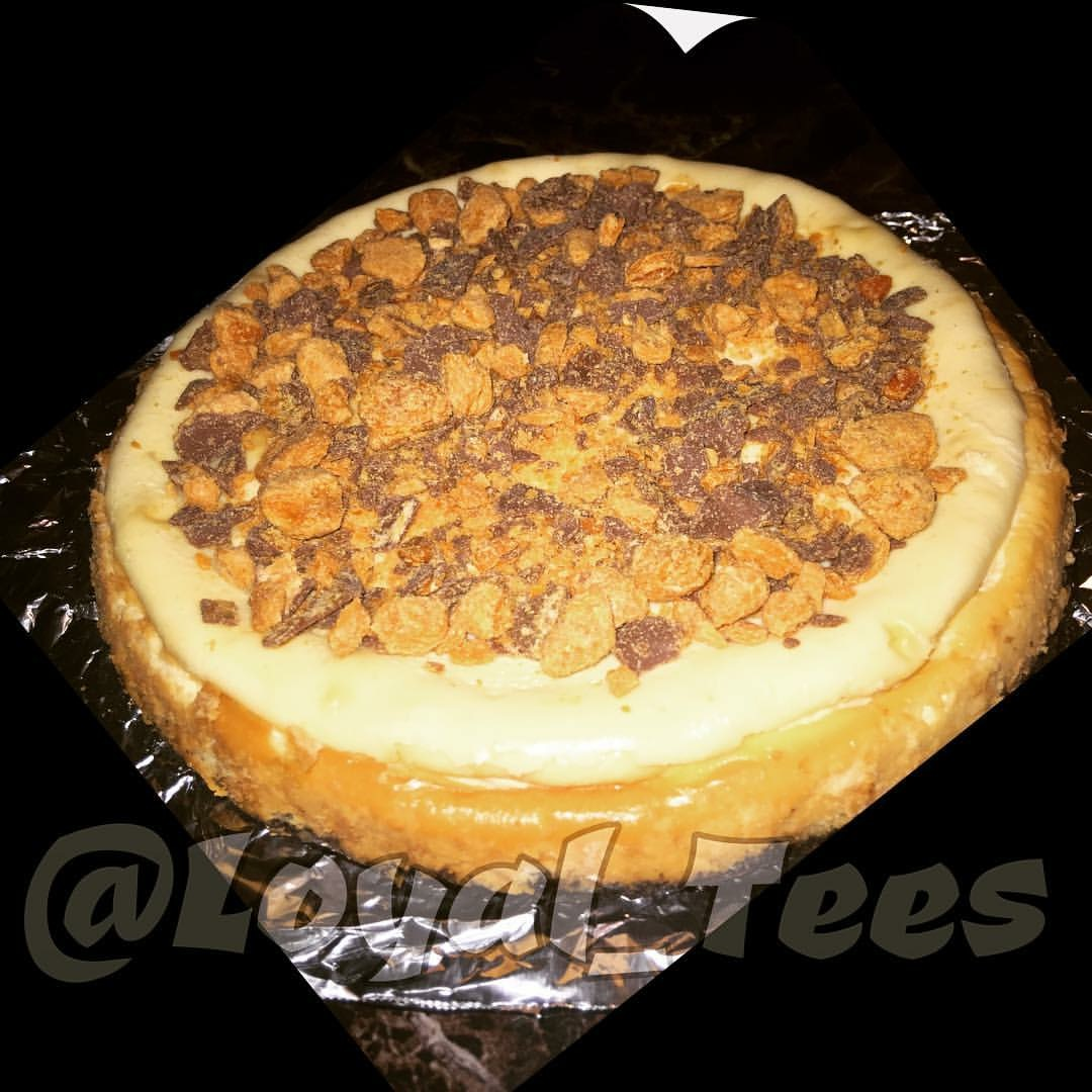 Butter Finger Cheesecake