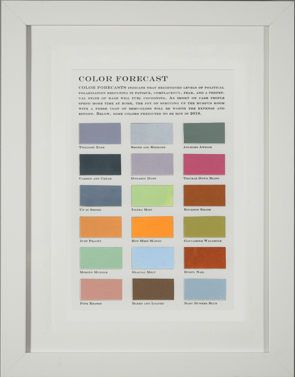 Color Forecast No. 1: Cocooning