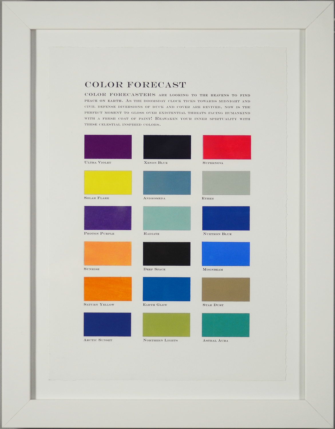 Color Forecast No. 5: Spirituality