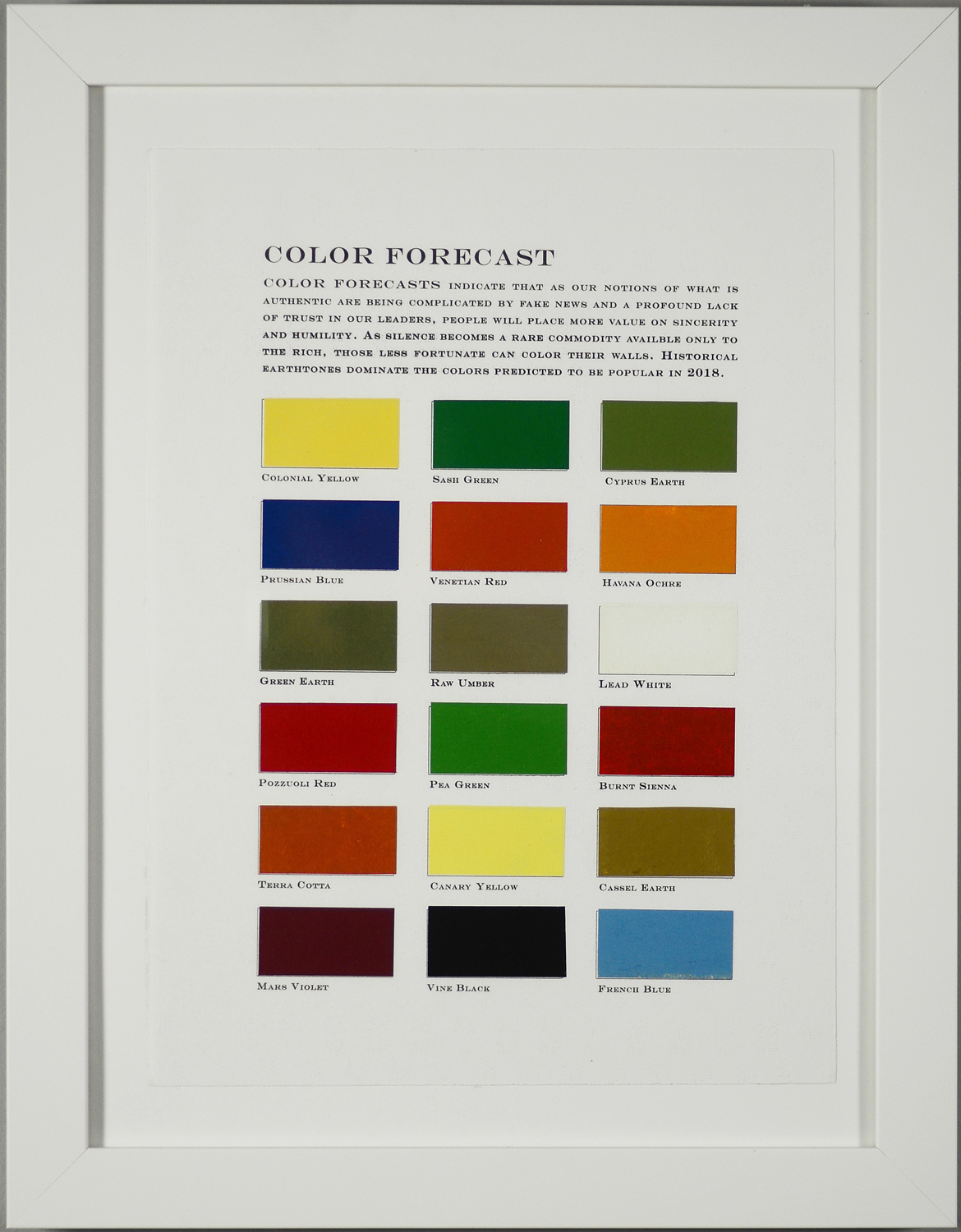 Color Forecast No. 2: Authenticity