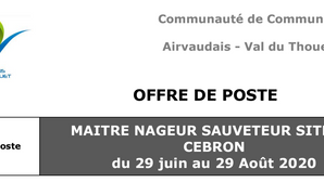 Offre BNSSA au Lac du Cébron à Saint-Loup-Lamairé (79)