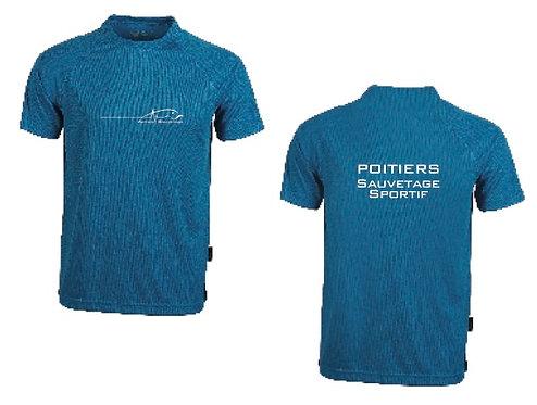 Tee-shirt technique bleu AS