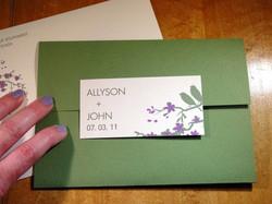 Ally and John - Invitations