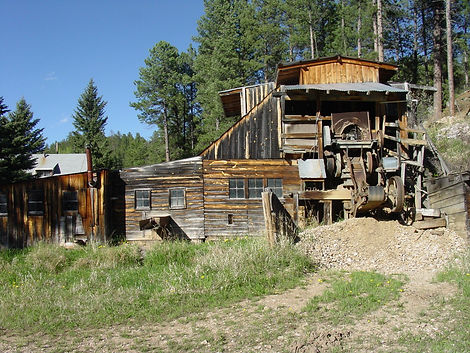 Wade's Gold Mill, gold mining, Black HIlls, South Dakota