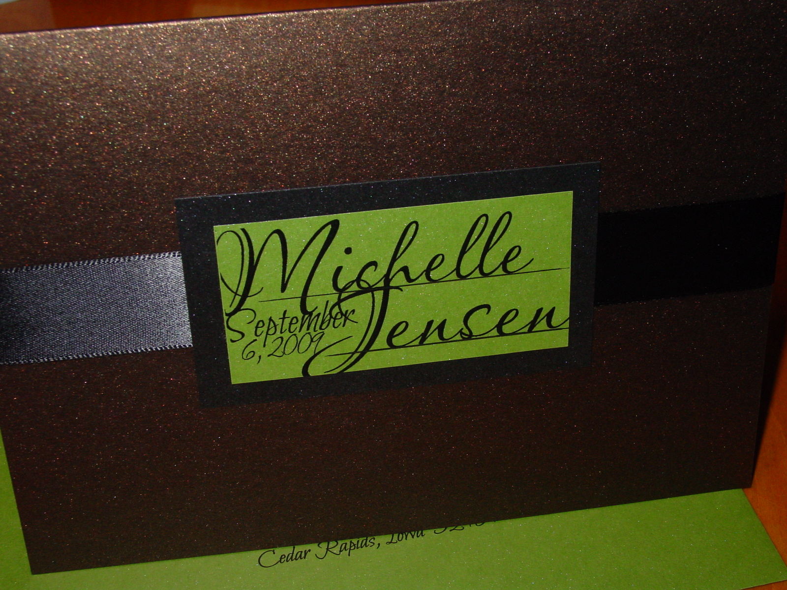 Michelle and Jensen - Invitations