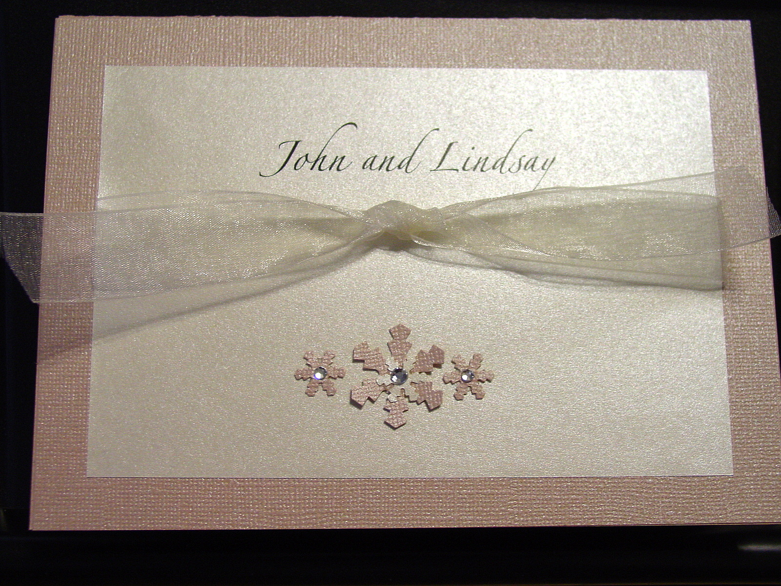Lindsay and John - Invitations